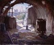 MIKAN 2894910 Interior of a Pill Box, Flanders [Intérieur d'une casemate, Flandres]. 1920 [70 KB, 640 X 525]