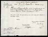 MIKAN 2395429 Lettre de change signée par le trésorier Imbert et l'intendant Bigot. 1753, octobre, 20 [Lettre de change signée par le trésorier Imbert et l'intendant Bigot., 1753, octobre, 20]
