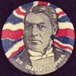 MIKAN 3639877 Lapel button: Sir Charles Tupper. [Lapel button: Sir Charles Tupper.]