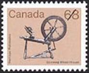 MIKAN 2265966 Heritage, spinning wheel = Patrimoine, rouet [philatelic record]. [63 KB, 640 X 520]