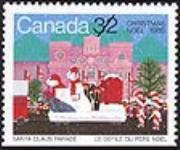 MIKAN 2266001 Christmas, 1985, Santa Claus Parade = Noël, 1985, le défilé du père Noël [philatelic record]. [107 KB, 640 X 531]