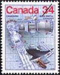 MIKAN 2266026 Canadarm = Bras spatial canadien [philatelic record]. [87 KB, 386 X 480]