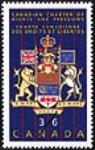 MIKAN 2266059 Canadian Charter of Rights and Freedoms = Charte canadienne des droits et libertés [philatelic record]. [70 KB, 307 X 480]