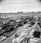 MIKAN 3197898 View of the Trenton shipyard where tugs were manufactured. Apr. 1944 [65 KB, 455 X 480]