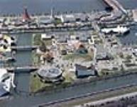 MIKAN 3198678 Aerial view from Africa Place to the Sermons from Science pavilion during Expo 67. July 1967. [109 KB, 640 X 496]