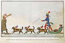 MIKAN 2895570 Monsieur voyageant en traîneau à chiens avec un guide indien, baie d'Hudson. n.d. [Monsieur voyageant en traîneau à chiens avec un guide indien, baie d'Hudson., n.d.]