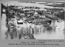 MIKAN 3607499 Town of Emerson. Emerson was the first Manitoba town affected by the flood. 1950 [Town of Emerson. Emerson was the first Manitoba town affected by the flood., 1950]