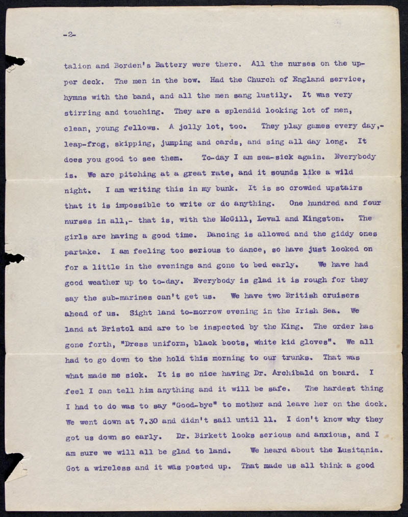 Letter - 12/05/1915 to Mollie, Volume Number: , Page Number: 2