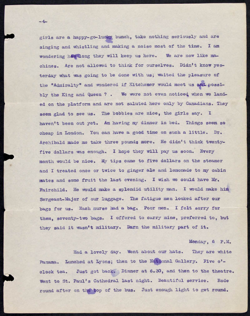 Letter - 13/05/1915 to Mother, Volume Number: , Page Number: 4