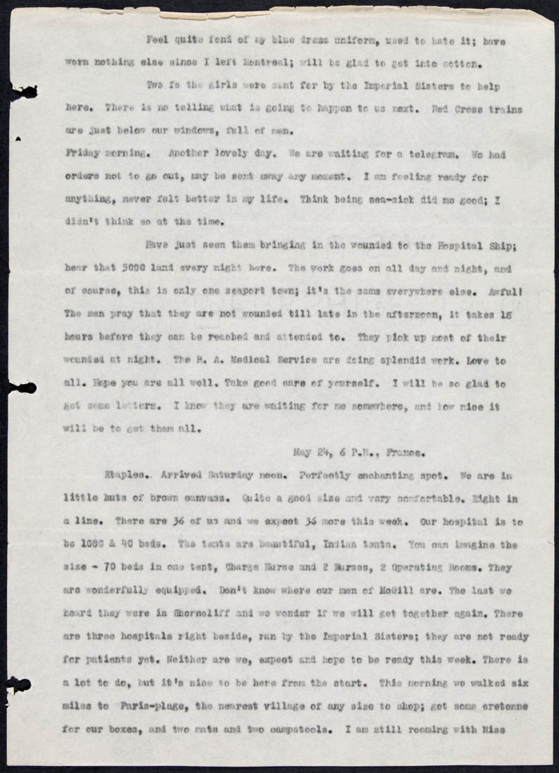 Letter - 20/05/1915 to Dearest, Volume Number: , Page Number: 2