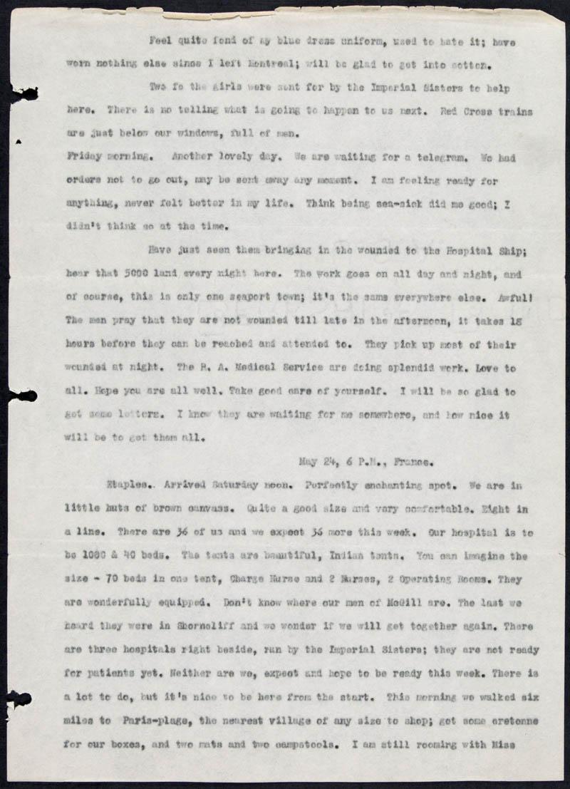Letter - 20/05/1915 to Dearest, Volume Number: , Page Number: 2