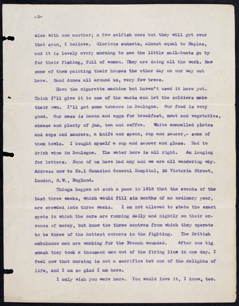Letter - 26/05/1915 to Mollie, Volume Number: , Page Number: 3