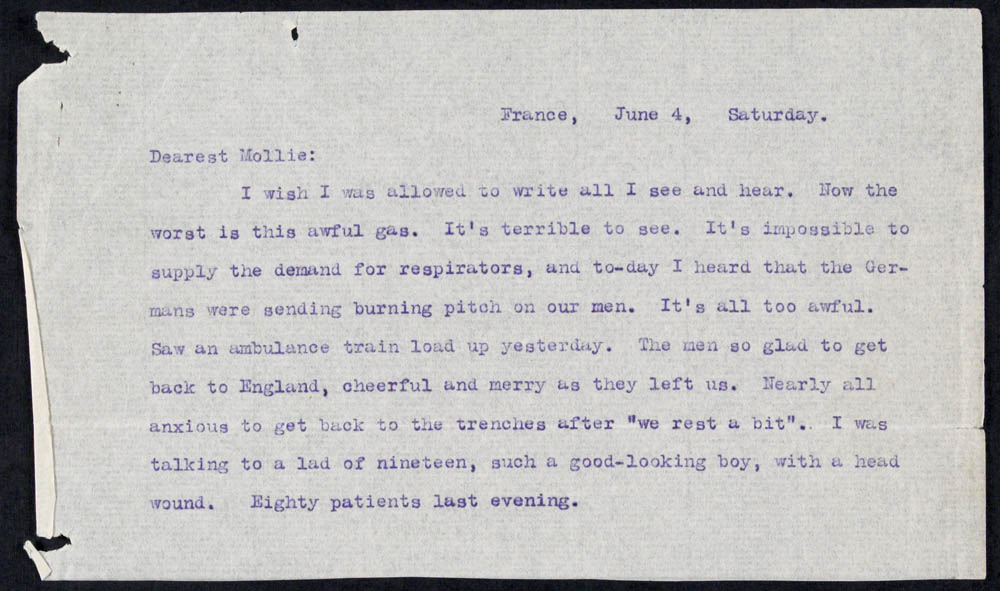 Letter - 04/06/1915 to Mollie, Volume Number: , Page Number: 1