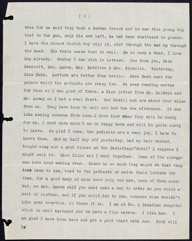 Letter - 15/06/1915 to Mother, Volume Number: , Page Number: 2