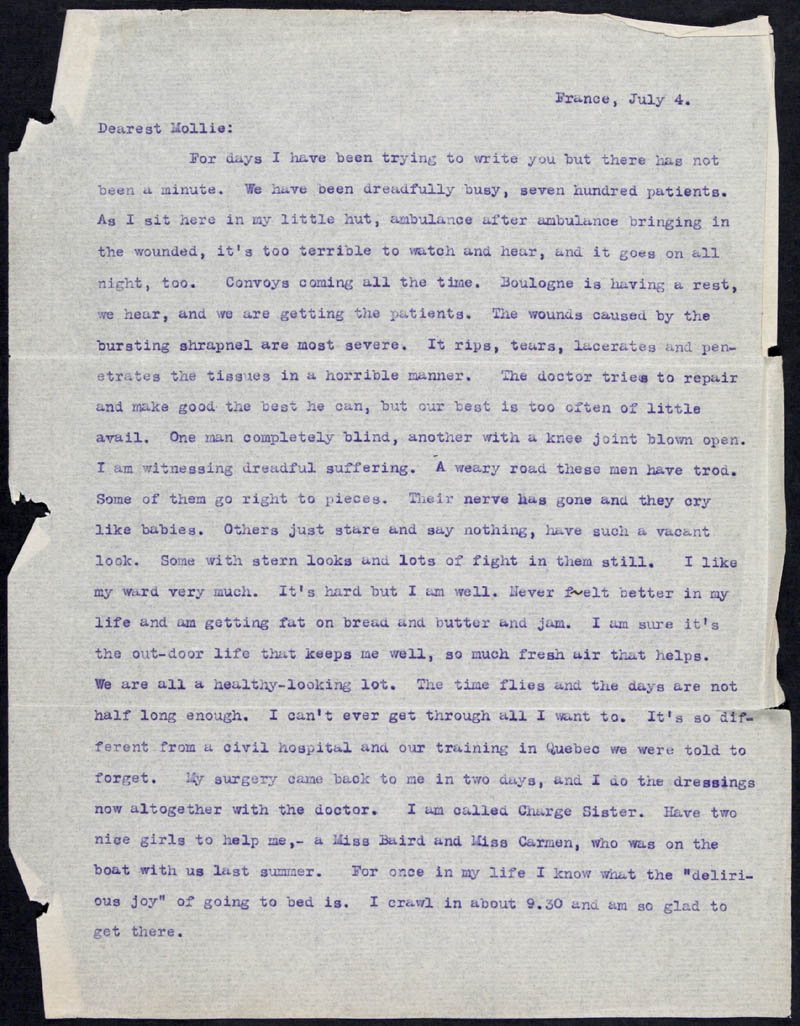 Letter - 04/07/1915 to Mollie, Volume Number: , Page Number: 1