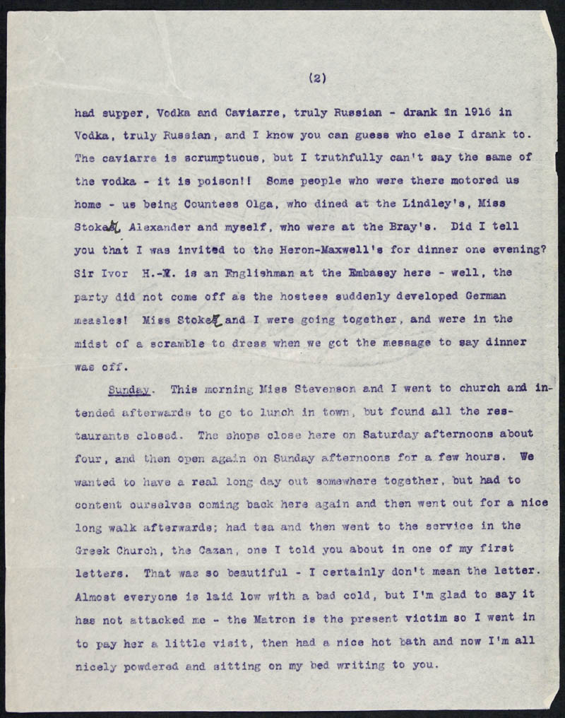 Letter - 01/01/1916 to Mother, Volume Number: , Page Number: 2