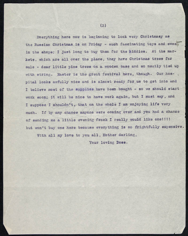 Letter - 01/01/1916 to Mother, Volume Number: , Page Number: 3