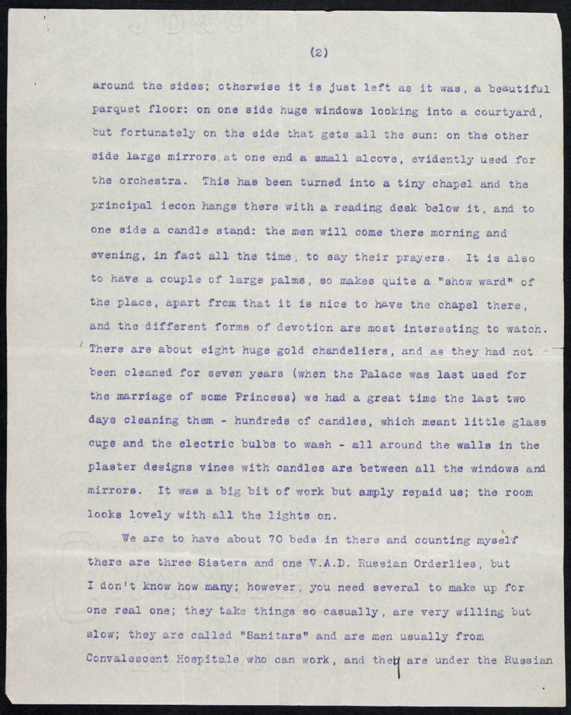 Letter - 25/01/1916 to Mother, Volume Number: , Page Number: 2