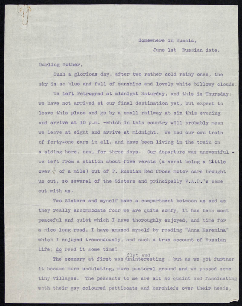 Letter - 01/06/???? to Mother, Volume Number: , Page Number: 1