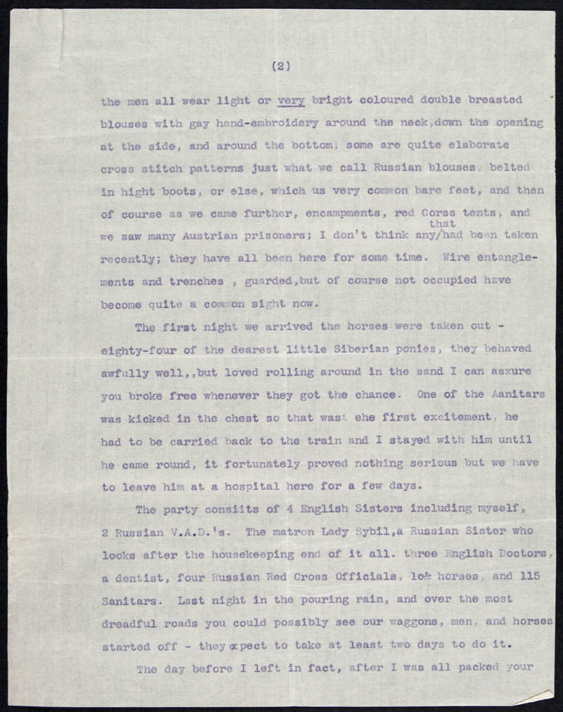 Letter - 01/06/???? to Mother, Volume Number: , Page Number: 2
