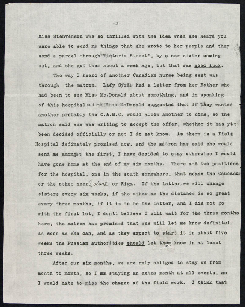 Letter - 05/04/1916 to Mother, Volume Number: , Page Number: 2