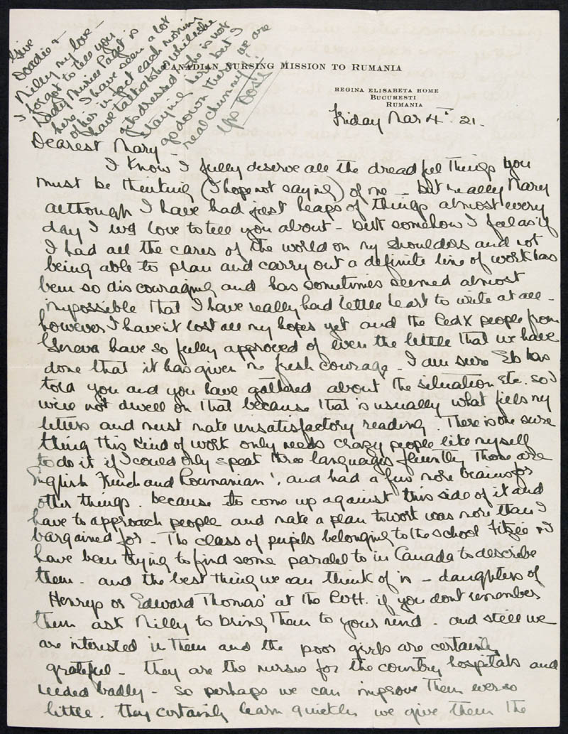 Letter - 04/03/1921 to Mary, Volume Number: , Page Number: 1