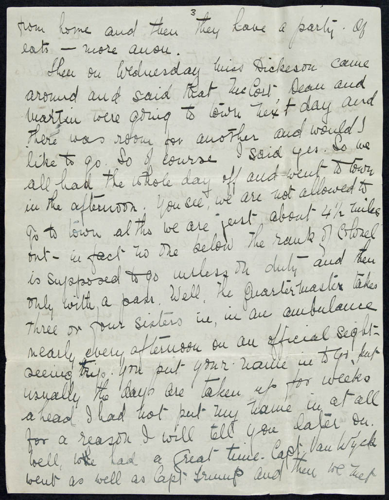 Letter - 23/01/1915 to Irene, Volume Number: , Page Number: 3