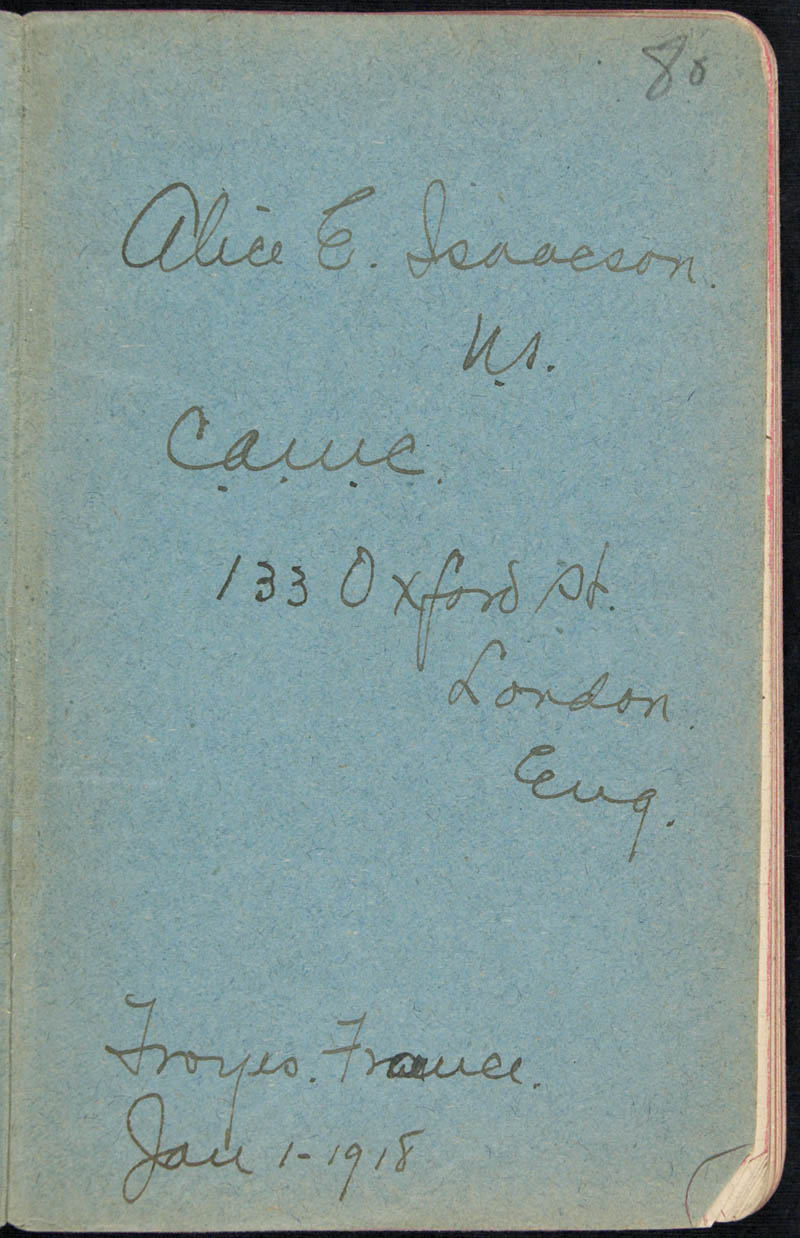 Diary - 1918, Volume Number: , Page Number: 1