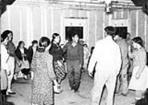 MIKAN 5052143 Dance at Chesterfield Inlet, (Igluligaarjuk), Nunavut. 1952. [86 KB, 600 X 426]