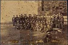 MIKAN 4954367 [Group photo of Canadian Militia who repelled Fenians]. ca. 1870-1871. [[Group photo of Canadian Militia who repelled Fenians]., ca. 1870-1871.]