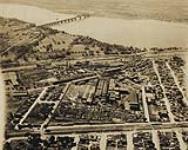 MIKAN 3704115 Aerial view of Dominion Bridge Company Ltd. Lachine plant. 1927. [Aerial view of Dominion Bridge Company Ltd. Lachine plant., 1927.]