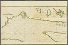 MIKAN 4129896 A new chart of the River St. Laurence, from the Island of Anticosti to the falls of Richelieu: with all the islands, rocks, shoals, and soundings. Also particular directions for navigating the river with safety. Taken by order of Charles Saunders, Esqr. Vice-Admiral of the Blue, and Commander in Chief of His Majesty's ships in the expedition against Quebec in 1759. [cartographic material] 1760. [A new chart of the River St. Laurence, from the Island of Anticosti to the falls of Richelieu: with all the islands, rocks, shoals, and soundings. Also particular directions for navigating the river with safety. Taken by order of Charles Saunders, Esqr. Vice-Admiral of the Blue, and Commander in Chief of His Majesty's ships in the expedition against Quebec in 1759. [cartographic material], 1760.]