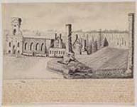 MIKAN 3635411 Vue d'une partie des ruines du Village de St. Benoît 1838 [Vue d'une partie des ruines du Village de St. Benoît, 1838]