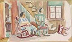MIKAN 2968645 Woman on Rocking Chair. 1929-1942 [Woman on Rocking Chair., 1929-1942]