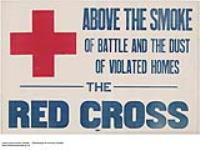 Above the Smoke of Battle, the Red Cross. [145 KB, 1000 X 749]