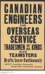 Canadian Engineers for Overseas Service. [240 KB, 1000 X 1615]