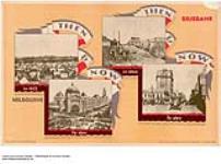 MIKAN 2845089 Then and Now - Melbourne, 1853, Brisbane, 1860 :  Melbourne, Brisbane. 1926-1934. [185 KB, 1000 X 741]