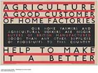 MIKAN 2845331 Agriculture - Good Customers of Home Factories - Help to Make it a Better. 1926-1934 [Agriculture - Good Customers of Home Factories - Help to Make it a Better., 1926-1934]