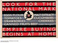 MIKAN 2845333 Look for the National Mark - Empire Buying Begins at Home. 1926-1934 [Look for the National Mark - Empire Buying Begins at Home., 1926-1934]