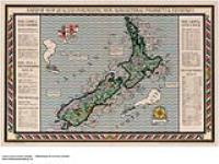 MIKAN 2845343 A Map of New Zealand. Portraying her agricultural products & fisheries [cartographic material] 1926-1934. [376 KB, 1000 X 749]
