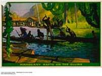 MIKAN 2845345 Mahogany Rafts on the Oluwe. 1926-1934. [Mahogany Rafts on the Oluwe., 1926-1934.]