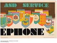 """MIKAN 2845262 and Service, ephone :  Part of a Set Entitled Satisfaction & Service """"Buy Empire"""" by Telephone. 1926-1934. [and Service, ephone :, 1926-1934.]"""
