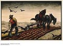 MIKAN 2845193 [untitled] :  horse draw plough. 1926-1934 [[untitled] :, 1926-1934]