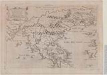 MIKAN 3972419 Il Disegno del discoperto della nova Franza, [cartographic material] ilquale s'è havuto ulti, mamente dalla novissima navigatione dè Franzesi in quel  luogo, nel quale sivedono tutte l'Isole, Porti, Capi, et luoghi fraterra chein quella sono / 1566. [Il Disegno del discoperto della nova Franza, [cartographic material], 1566.]