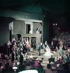 MIKAN 4292957 Performance in progress at Stratford Shakespeare Festival, Stratford, Ontario. July 1953 [155 KB, 1000 X 1048]