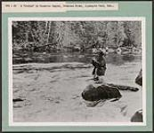 MIKAN 4297710 A strike in Snowshoe Rapids, Petawawa River, Algonquin Park, Ont.  [Between 1930 and 1960]. [192 KB, 1000 X 865]