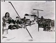 MIKAN 4293435 Inuit family in a large igloo , Chesterfield Inlet, Hudson's Bay . n.d. [Inuit family in a large igloo , Chesterfield Inlet, Hudson's Bay ., n.d.]