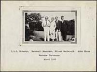 MIKAN 4323078 Wilson P. MacDonald, C.G.D. Roberts, Marshall Saunders and John Elson at the Muskoka Chatauqua. 1926 [140 KB]