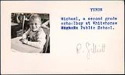 MIKAN 5196056 Michael, a second grade schoolboy at Whitehorse Public School. [between 1955-1963] [Michael, a second grade schoolboy at Whitehorse Public School., [between 1955-1963]]