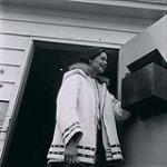 MIKAN 5196083 [Alma Houston checking her mailbox]. [between 1956-1960] [[Alma Houston checking her mailbox]., [between 1956-1960]]